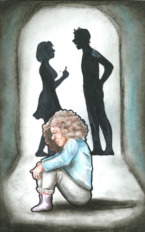 """Gyöngyösi Réka Ne! című alkotása a """"Biztonságos gyermekkor"""" rajzpályázatra érkezett"""
