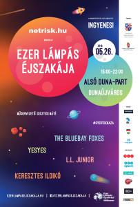 Ezer Lámpás Éjszakája Dunaújváros plakát