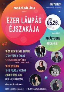 Ezer Lámpás Éjszakája Budapest szórólap