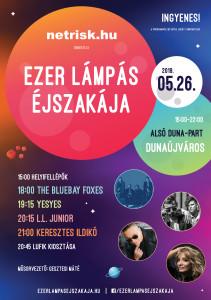 Ezer Lámpás Éjszakája Dunaújváros szórólap